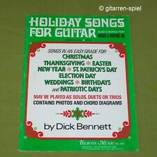 Holiday Songs for Guitar also Chords for Banjo + Baritone-Uke Dick Bennet Top!