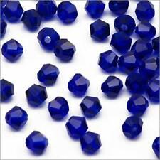 Lot de 40 Perles Tchèques Toupies en Cristal 4mm Bleu