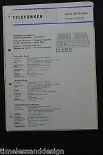 Telefunken Service digitale 700 / 750 stereo  Service Manual Schaltplan