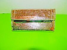 Women,s Kenneth Cole   Clutch style wallet 4 X10 ,SnapClosure color Gold Glitter