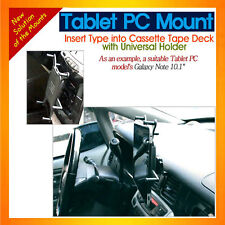 Indash mount inserted between gap & uni-holder for tablet PCs as Galaxy Tab 8.6""