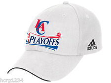 Los Angeles Clippers Adidas NBA Basketball Playoff White Adjustable Cap Hat