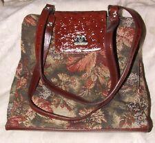 BEAUTIFUL MC Handbags Faux Ostrich TAPESTRY Purse Shoulder Bag