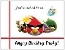 20 ANGRY BIRDS Birthday PARTY INVITATIONS Post Cards POSTCARDS
