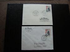 FRANCE-2 enveloppes (le monde des philatelistes) 1965/1966 (cy40)french