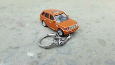 Diecast Range Rover Sport Orange Toy Car  Keyring Keychain NEW