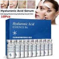 10x 5ml Original Hyaluronsäure ANTI FALTEN B6 SERUM Hautpflege Anti-Aging