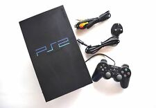 Sony Playstation 2 Black PS2 Console + Wires & Official Controller Working