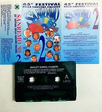Sanremo '95 45° festival della canzone italiana 2 Mc Tape Cassette No Barcod