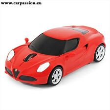 Official Alfa Romeo 4C Sports Car Wireless Laser Computer Mouse Red emblem badge