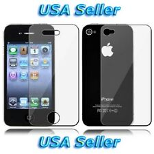 Clear Front+Back Screen Cover Shield Protector *FULL BODY* For APPLE iPhone 4 4S