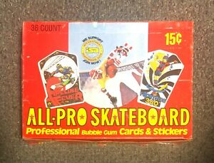 1978 Donruss All-Pro Skateboard 36 Pack Wax Box BCO UNOPENED