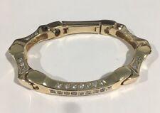 14k Yellow Gold Heavy Men's  Bracelet With 5.00ct Diamonds