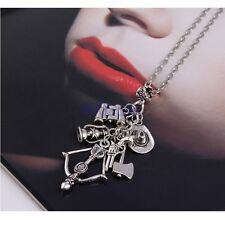 Hot TV Play The Walking Charm Dead Pendant Necklace Long Chain Sweater Gift