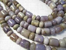 Rare Natural Purple Chalcedony Beads, Java Indonesia Barrel Rondelle 9mm 12mm