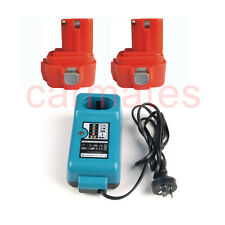 2 Battery+Charger for Makita 9.6V 3.0Ah Ni-MH 6703 6704 6791 9122 T1022D 6400DW