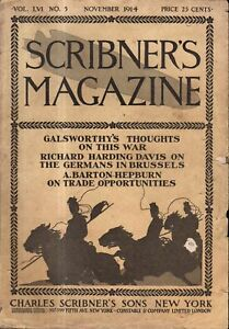 1914 Scribners November  - Teddy Roosevelt; Hot air balloons and automobiles