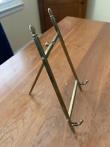 Vintage Brass 10 Inch Adjustable Hinged Easel Art