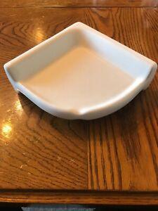 (1) NEW - RegalTile Shower Corner Shelf White Ceramic Thinset Mount 7 x 7 x 2.75