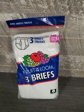 Nip Vintage 2001 Fruit Of The Loom 3 Pack Boy's Briefs Underwear 14 Ftl