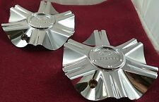 Lorenzo Wheels Chrome Custom Wheel Center Caps Set of 2 # 1000WL06 / S212-38
