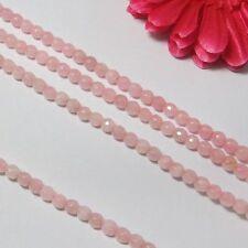 2 Strang natur Rosenquarz 6mm facettiert Lose Perlen