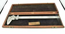 Brown Amp Sharpe No 570 Vernier Caliper 13 With Wooden Case No Etchings
