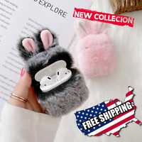 Cute Rabbit Ears Fluffy Case For Apple Airpods Cover Silicone For Headphones USA