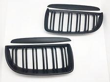 Matte Black Front Dual Fin Grill Grille for BMW E90 E91 05-08 320i-335i Sedan WG