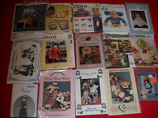 Lot of 15 Craft Patterns Doll Soft Book Toys Pillows Bow Tie Sugar Babies  #21
