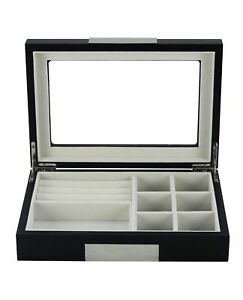 Luxury wooden cufflink box jewellery box for men jewelry ring watch display case