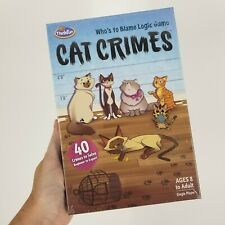ThinkFun Cat Crimes Brain Logic Game Brainteaser 8+ Kids Boys Girls Gift New
