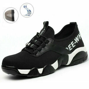 UK Lightweight Steel Toe Cap Safety Shoes Mens Womens Work Boots Hiking Trainers