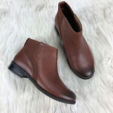 Vionic Women's 6 Cognac Brown Leather Thatcher Ankle Boot Booties