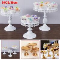 Round Metal Crystal Cake Stand Wedding Party Cupcake Dessert Display Holder US