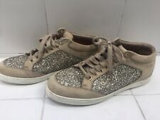 Jimmy Choo Miami Low Top Shadow Course Glitter Sneakers Sz 38.5 US 8 $595