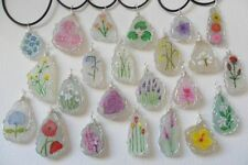 Flowers Plants Glass Costume Necklaces & Pendants