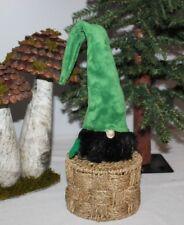 "Tall Hat Green 15"" Cute Gnome Plush Handmade Scandinavian Tomte Nordic Nisse"