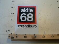 STICKER,DECAL AKTIE 68 UITZENDBURO LARGE STICKER