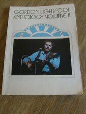 Gordon Lightfoot Anthology Volume II  Song Book Sheet Music 1974