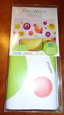 31-Count RoomMates Circles Wall Pockets Dots Peel & Stick Wall Decals Green&Pink