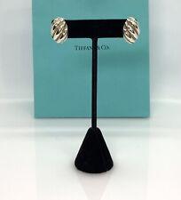 Tiffany & Co. Sterling silver & 18k Gold Twist Rope Omega back Earrings