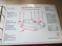 Shell Schmierplan / Wartungsdienst - Mercedes Benz Typ W 113  - 230 SL Pagode