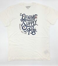 $131 Ralph Lauren Men White Red Blue Denim & Supply Logo Crew Neck T Shirt Tee M
