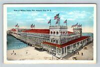 Atlantic City NJ, Million Dollar Pier, Beach, Vintage New Jersey Postcard