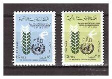 29694) Jordan 1962 MNH Nuevo Freedom From Hunger 2v
