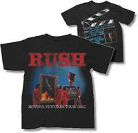 RUSH T-Shirt Moving Pictures Tour 1981 Logo New Authentic S-2XL