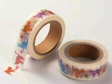 Ruban Masking Tape Chats 15mmx10m MOD9 adhésif Scrapbooking Loisirs