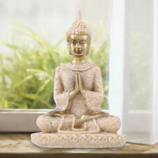 Meditative Seated Buddha Statue Sandstone Decoration Figurine Furnishing Article