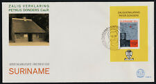 Surinam 599a on FDC - Map, Beatification of Father Petrus Donders